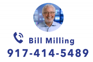 American Movie Company: Picture of Bill Milling in circle with phone number 917-414-5489