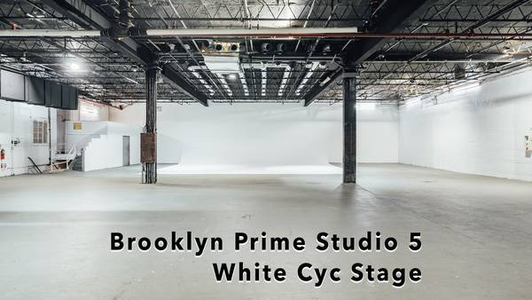 Brooklyn Prime White Cyc Super stage Studio 5- Green Screen sound Stage rentals nyc