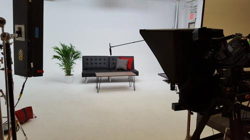 Chelsea Studio A - White Cyc Stage with couch