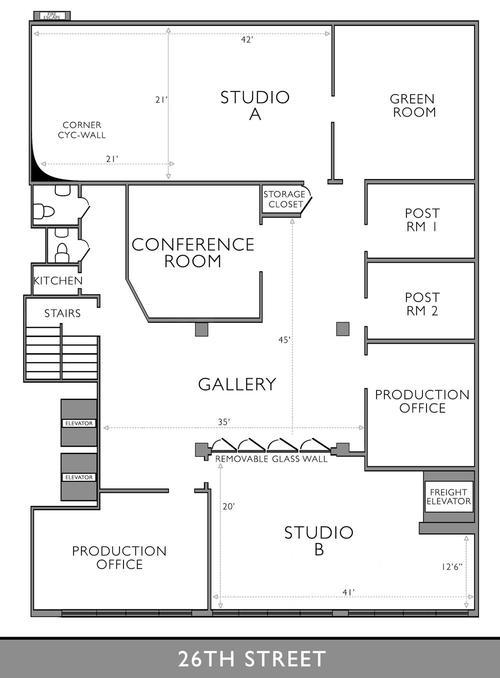 Chelsea South White Cyc Studio Floor Plan