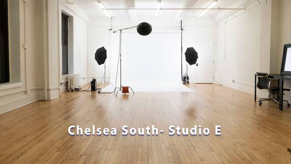 Chelsea South Studio E, White Seamless, Studio Rental- Green screen Sound Stage rental