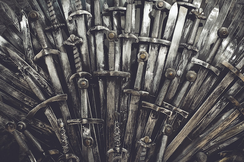 Game of Thrones, Metal Throne with swords