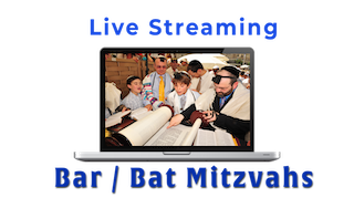Laptop Live Streaming a Bar Mitzvah, WebCasting from American Movie Company.