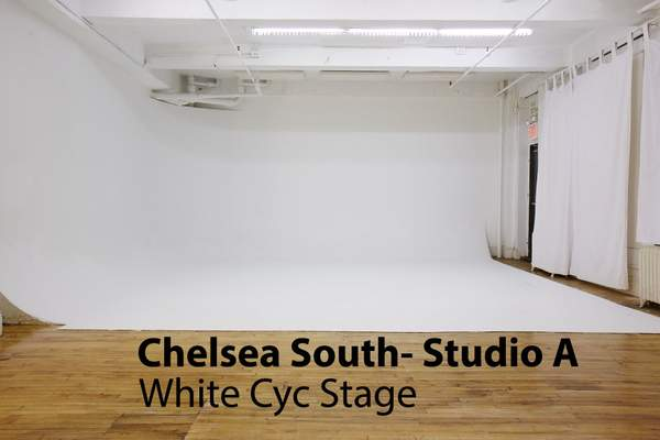 Chelsea South White Cyc Studio A- AMC  White Cyc: green screen sound Stage Rental