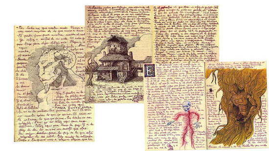Guillermo Del Toro's Sketchbook Pages