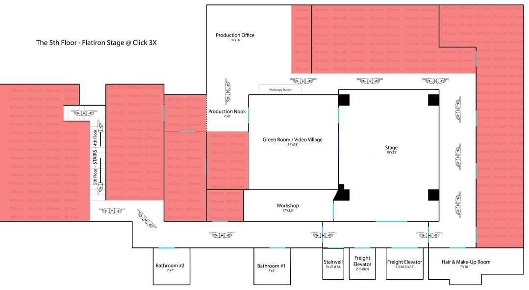 Flatiron stage floor plan