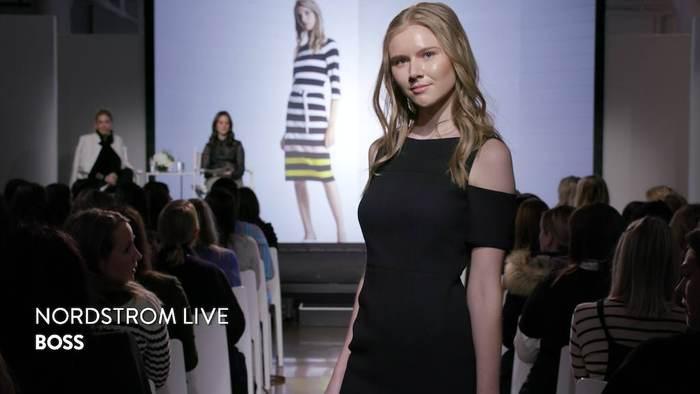 - Fashion Shows, model walking the runway