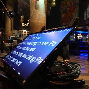 Event Production Teleprompters