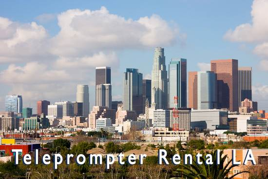 Teleprompter Rental LA - Los Angeles city view