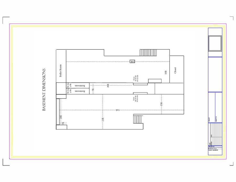 Floor plan - Basement Dimensions