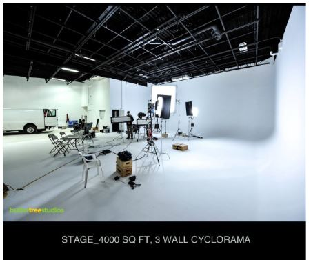 Large White Cyc Drive-In Video Studio NJ .New Jersey Prime Studios