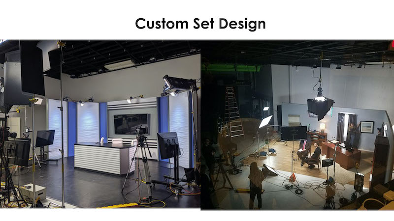 News Desk - custom set design