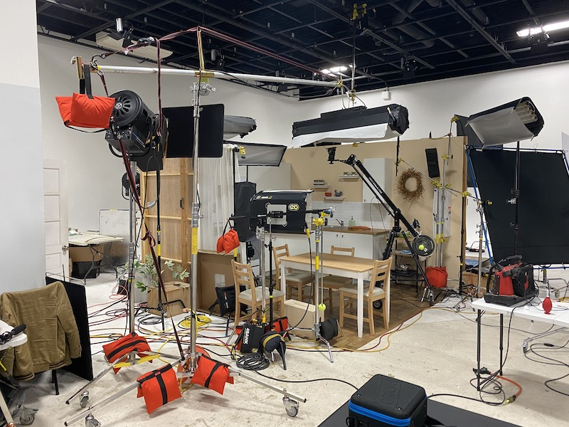 Large white cyc drive-in video studio NJ