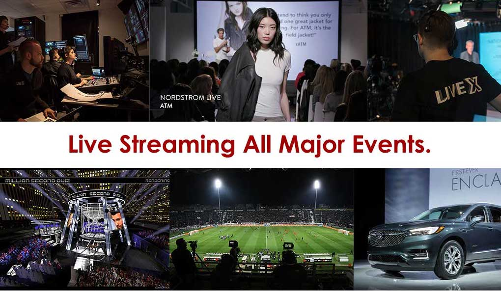 Live Stream all major events.