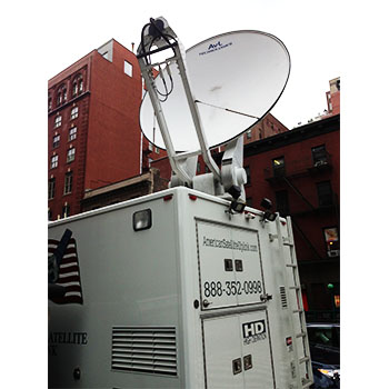 Satellite Live Streaming Van