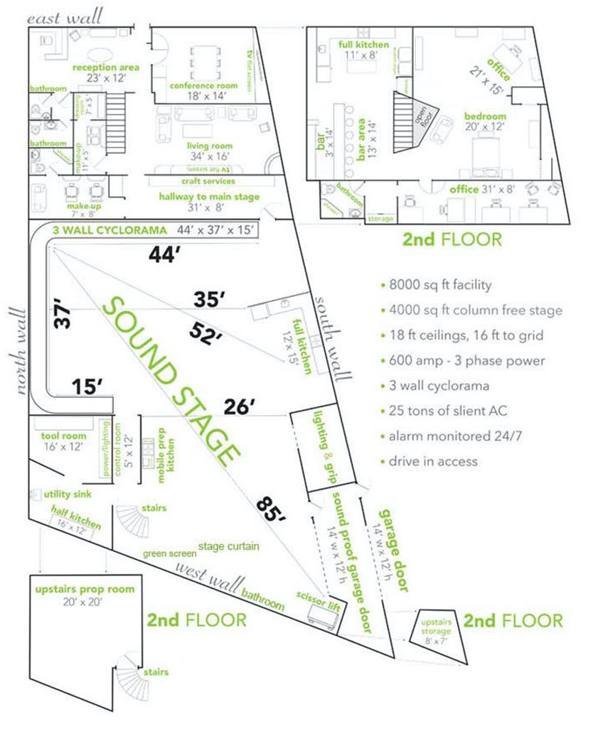 NJ Prime Studios Floor Plan
