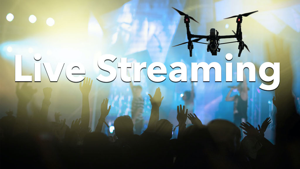 Drone Flying Over Concert : Live Streaming Raises Big Money