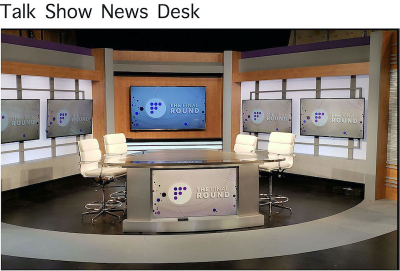Talk Show News Desk Rental
