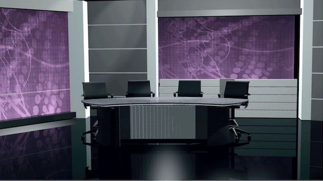 Virtual News Desk Custom Talk Show Set Design #7