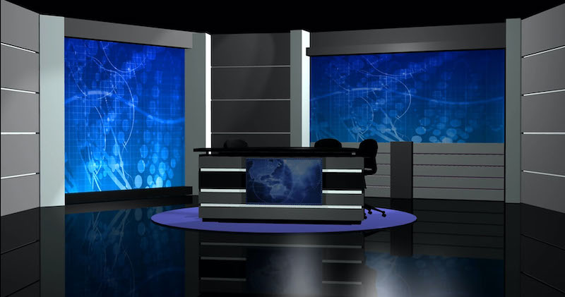 Virtual News Desk Rental Custom Talk Show Set Design #8