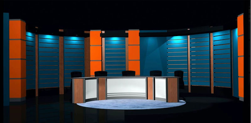 Virtual News Desk Rental Custom Talk Show Set Design #9