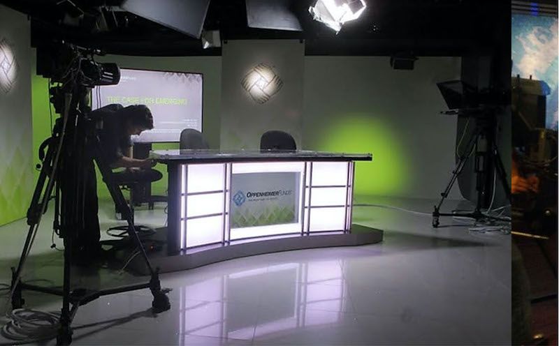 News Desk Rental Custom Talk Show Set Design #5