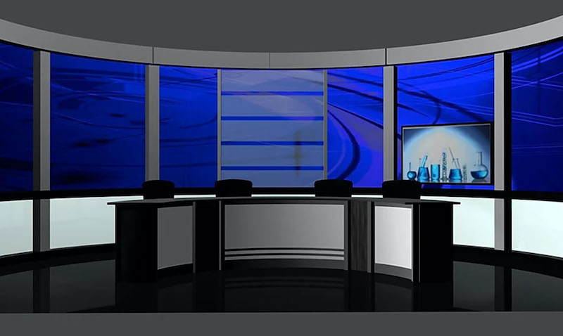 Virtual News Desk Rental Custom Talk Show Set Design #10