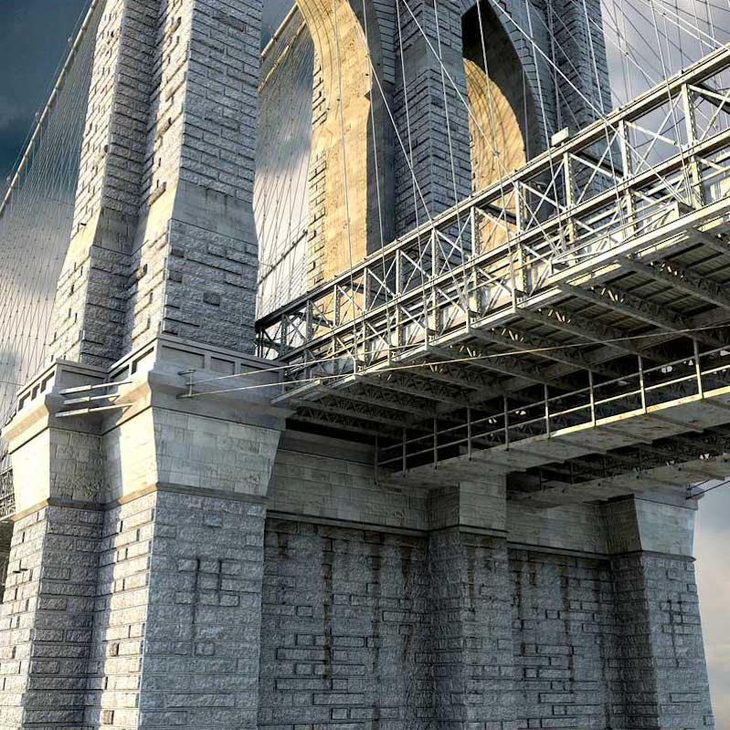 Brooklyn Bridge 4K/3D Virtual Set 5