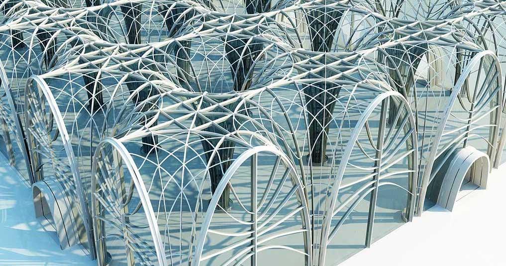 4K/3D Futuristic Arches Virtual Set 2