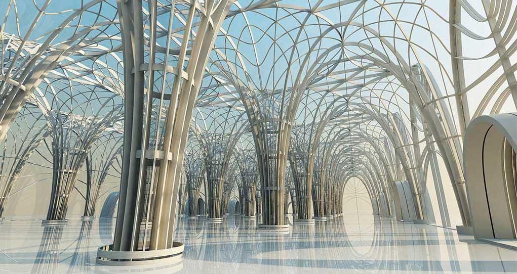 4K/3D Futuristic Arches Virtual Set 1