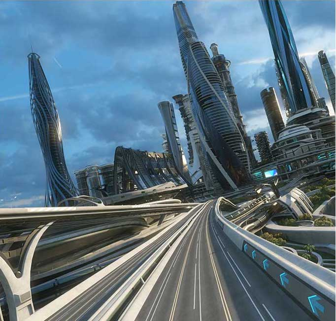 Sci-Fi City Virtual Set 3D Model