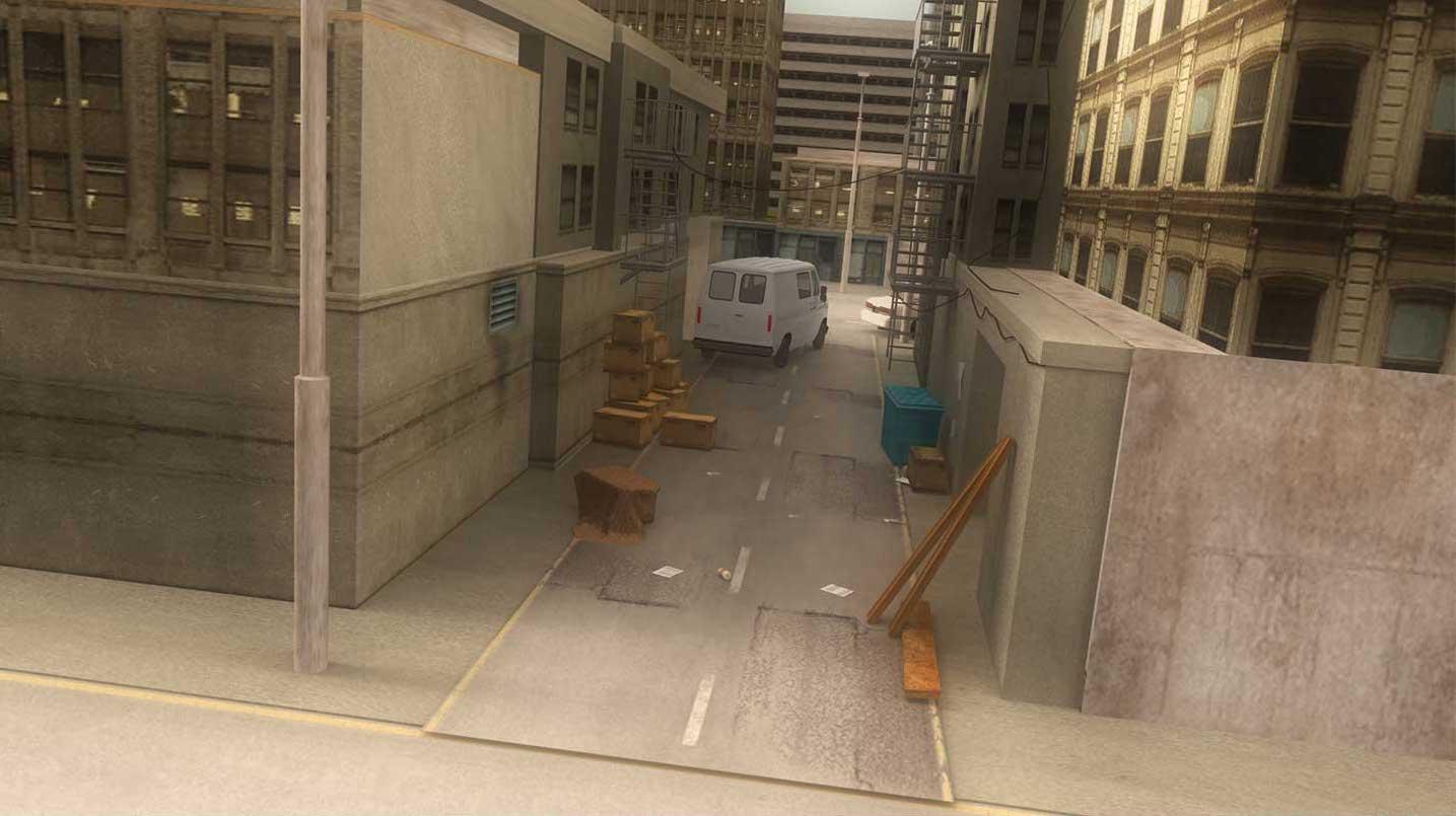4K/3D Virtual Alleyway Set 2