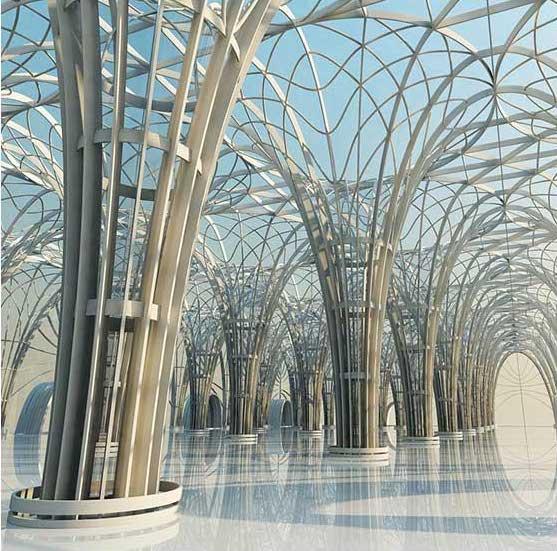 Futuristic Arches Virtual Set 3D Model