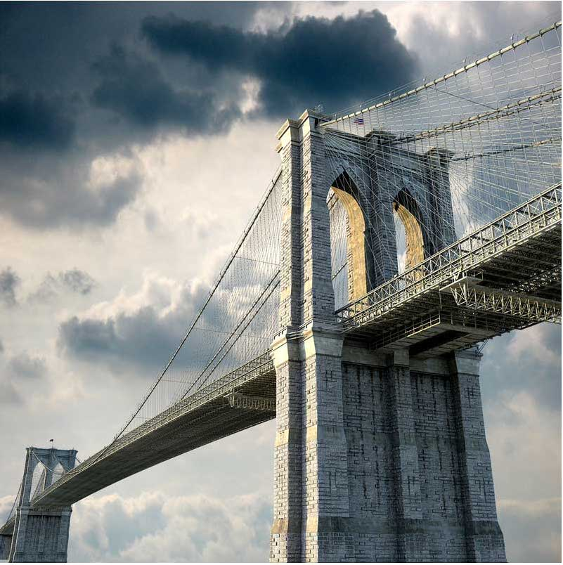 Brooklyn Bridge Virtual Set 3D Model - Virtual Sets