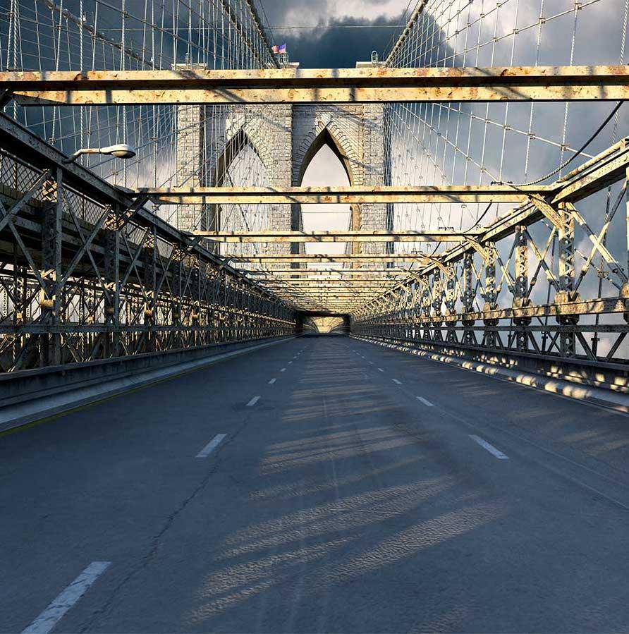 Brooklyn Bridge 4K/3D Virtual Set 2