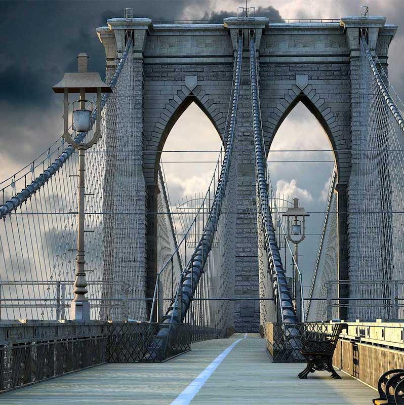 Brooklyn Bridge 4K/3D Virtual Set 4