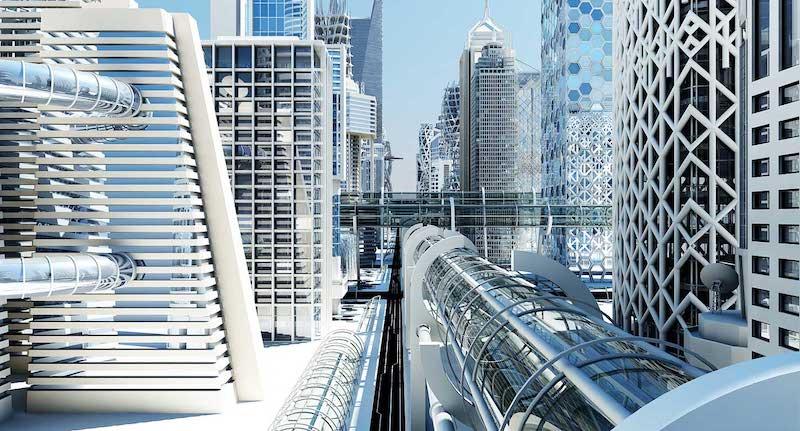 4K/3D Virtual Futuristic City Set 3