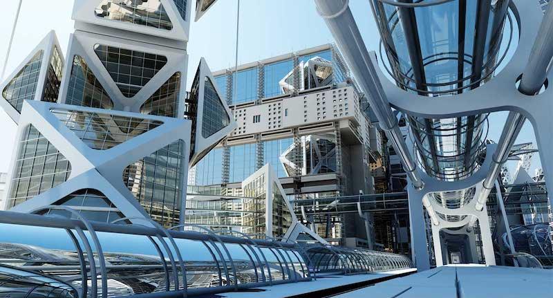 4K/3D Virtual Futuristic City Set 2