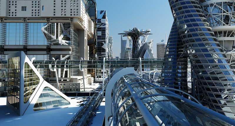 4K/3D Virtual Futuristic City Set 1