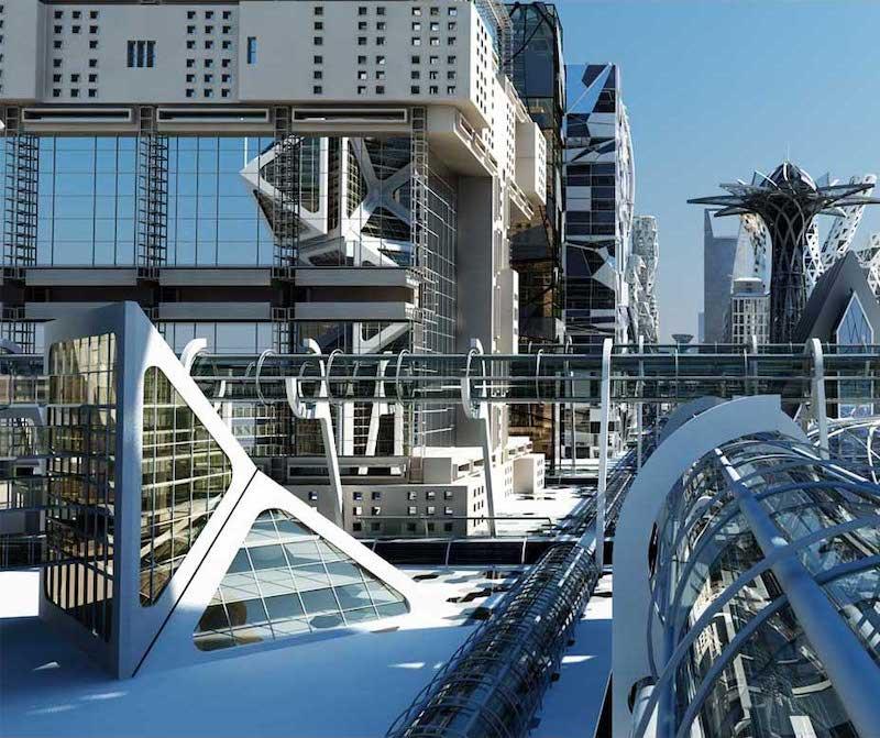 Futuristic City Virtual Set 3D Model