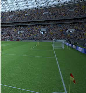 Virtual Soccer Stadium with Real Teams and Crowds 1