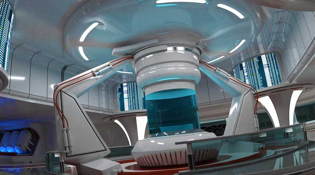 4K/3D Sci-Fi Interior Space Virtual Set 2