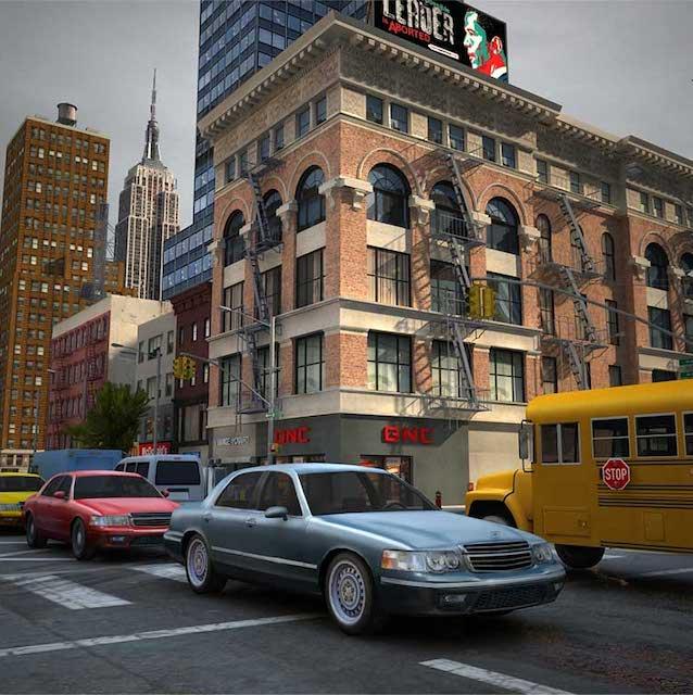 New York City Street Virtual Set 3D Model - Virtual Sets