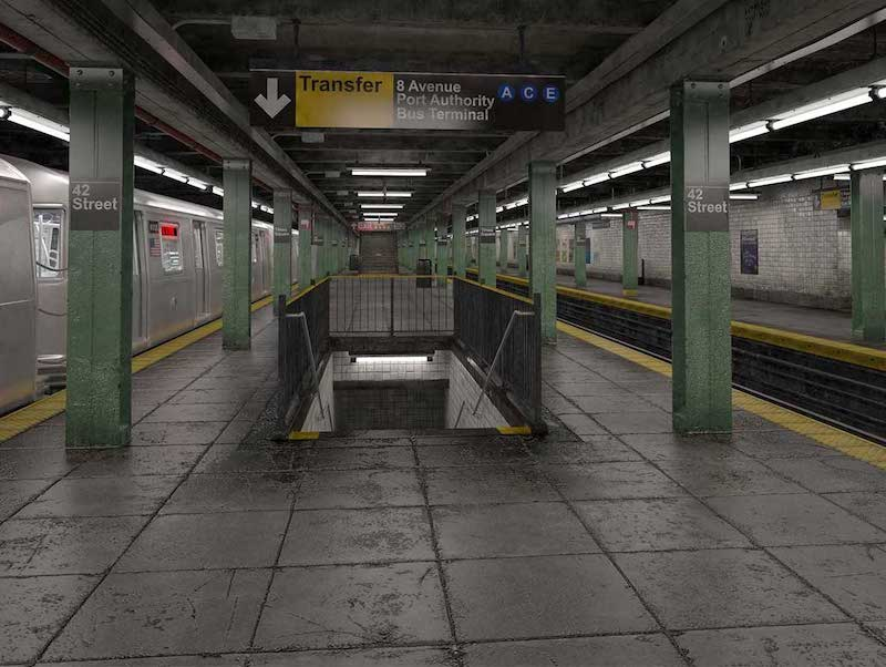 4K/3D New York City Subway Virtual Set 4
