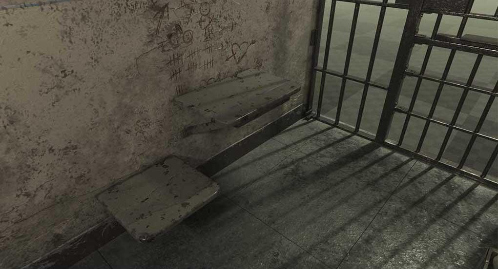 4K/3D Prison Cell Virtual Set 4