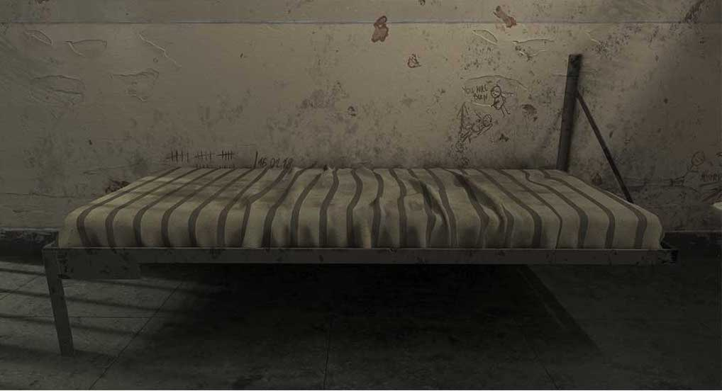 4K/3D Prison Cell Virtual Set 3