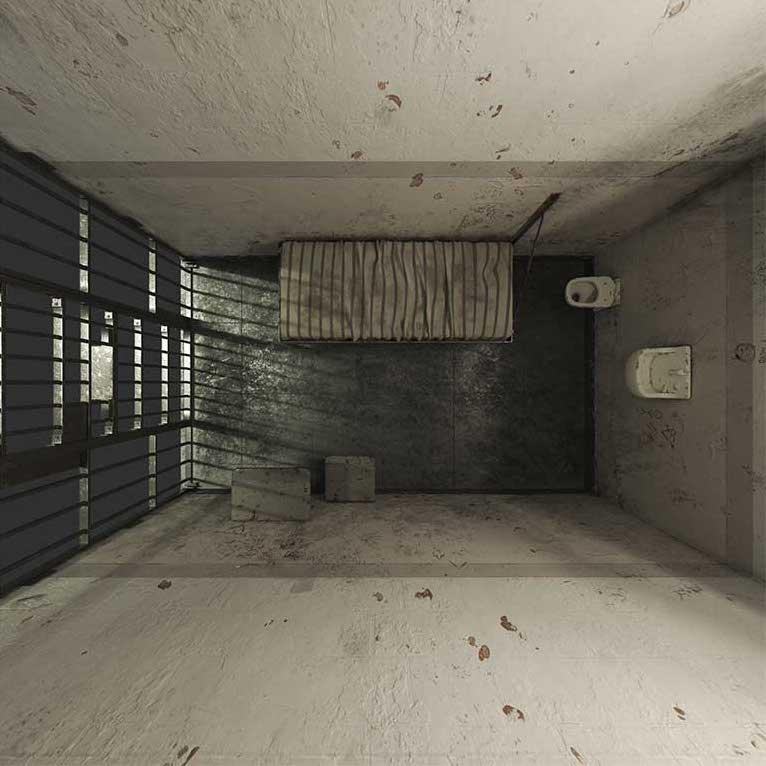 4K/3D Prison Cell Virtual Set 8