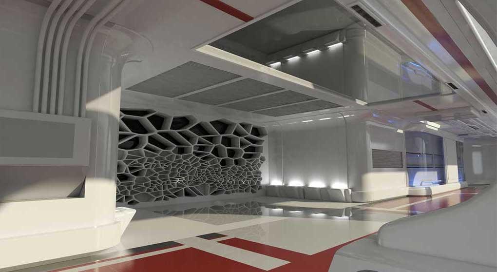 4K/3D Sci-Fi Interior Space Virtual Set 4