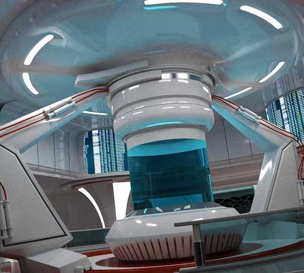 Sci-Fi Interior Space 3D Model - Virtual Sets
