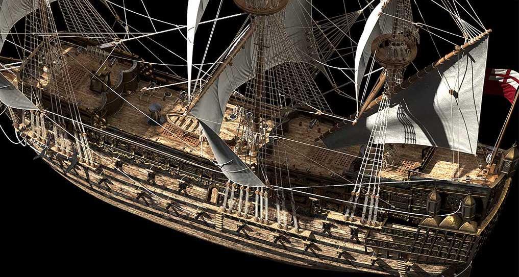 Virtual 3D Model Ship 4